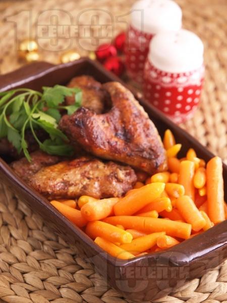 Медени пилешки крилца в Мултикукър - снимка на рецептата